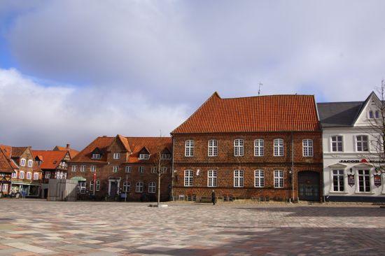 Huset Porsborg på torvet i Ribe