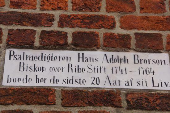 Inskription på muren på Taarnborg.