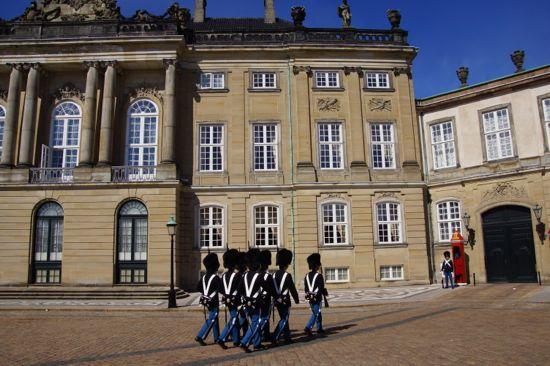 Vagteskifte på Amalienborg